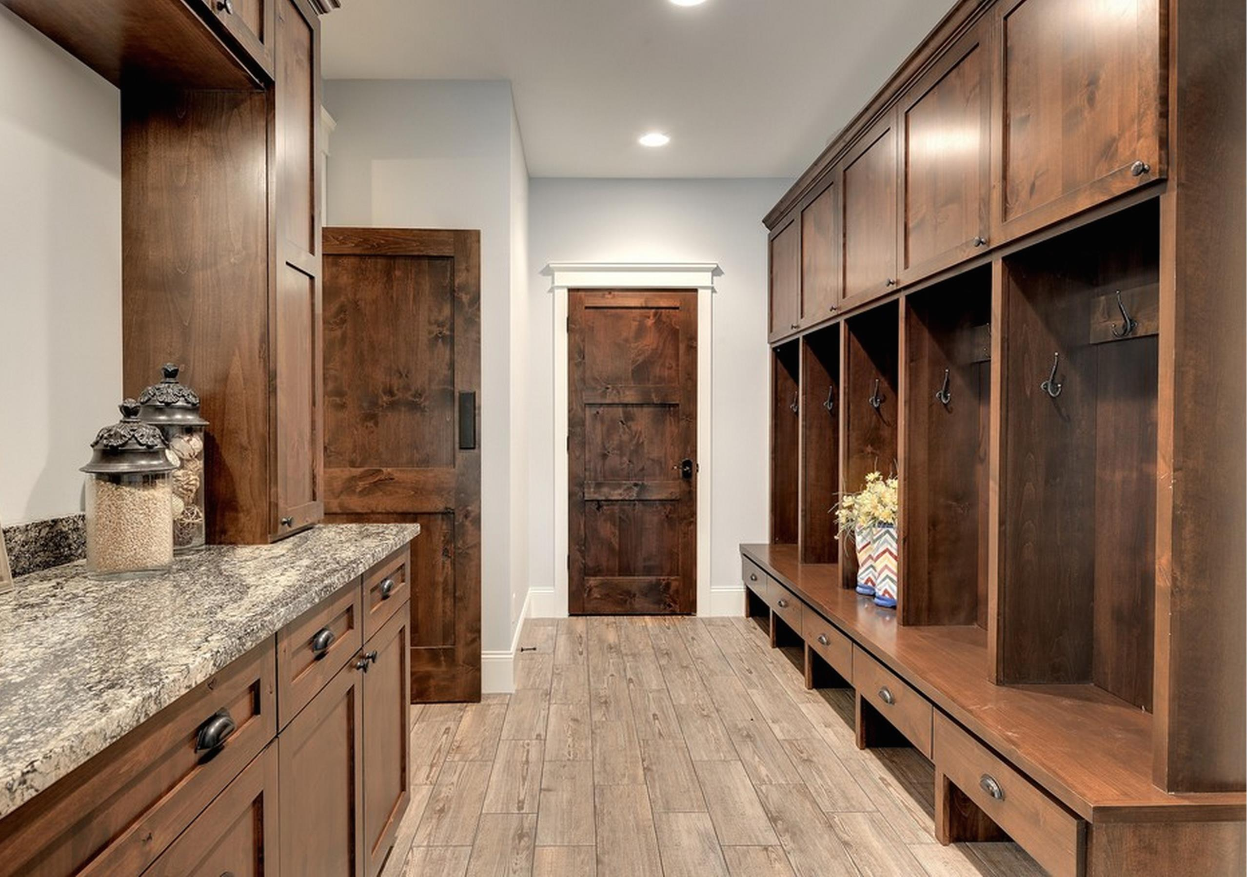 Knotty Alder Custom Doors And Cabinetry In The Mudroom Of A Minneapolis  House By Divine Custom