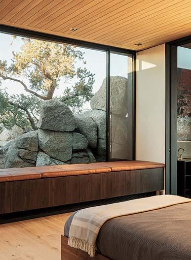 Real American Hardwoods Enhance Desert Retreat