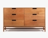 The six-drawer Forde Widebody dresser in cherry by Chicago-based 57st. Design.