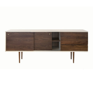 The Credenza in solid American black walnut from Smilow Design