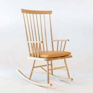 The Rocking Chair in solid American ash from Smilow Design